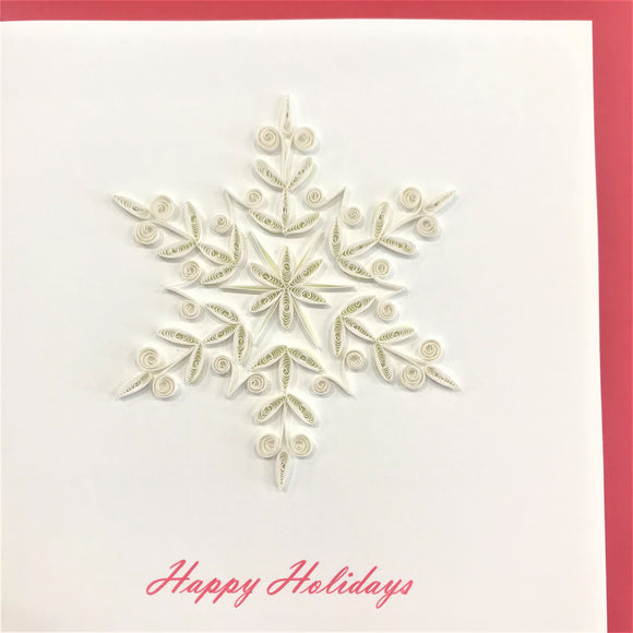 Quilled Snowflake Blank Card