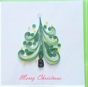 Quilled Christmas Tree Blank Card