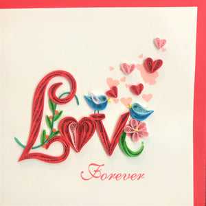 Quilled Love Forever Blank Card