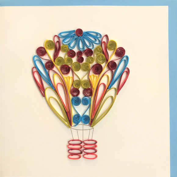 Quilled Hot Air Balloon Blank Card