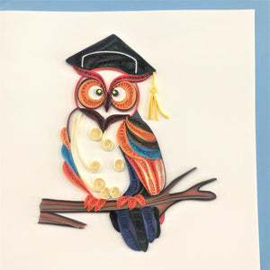 Quilled Graduation Owl Card