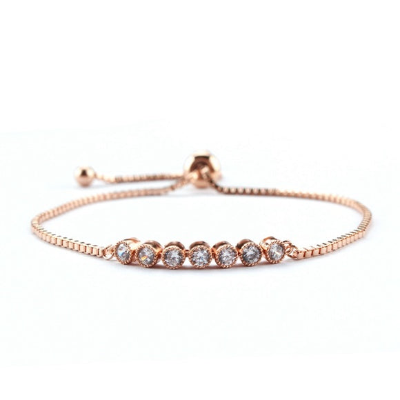 Simple Elegant Tennis EZ-On & EZ-Off Bracelet - 065