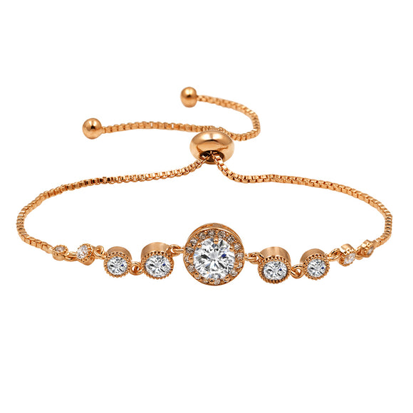 Elegant Simple Center Stone EZ-On & EZ-Off Bracelet - W155