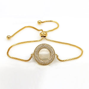 Round Charm EZ-On & EZ-Off Bracelet - 263
