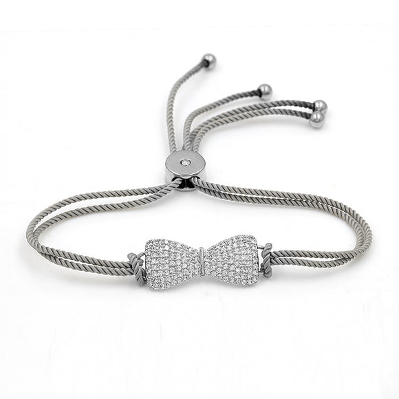 Bow with Petite Stones EZ-On & EZ-Off Bracelet - 269
