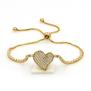 Heart Mosaic EZ-On & EZ-Off Bracelet - 237