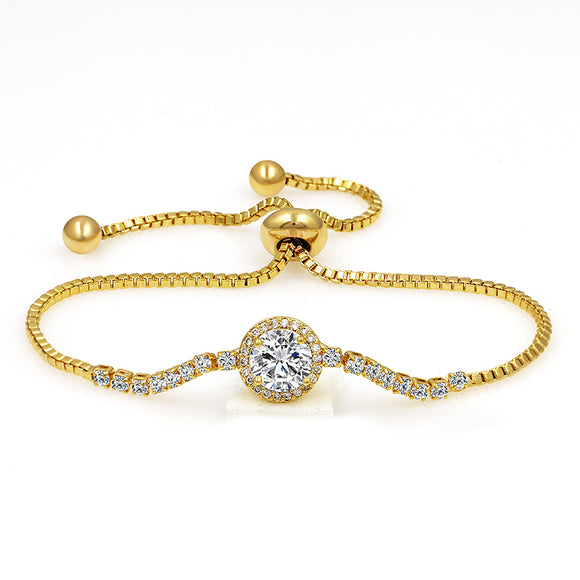 Round Center Stone EZ-On & EZ-Off Bracelet - 244