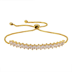 Stones Elegantly Linked EZ-On & EZ-Off Bracelet - 212