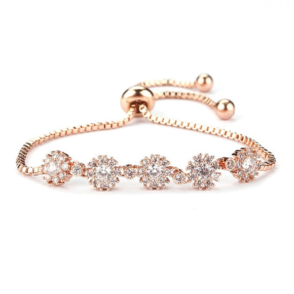 Round Multi-Stones EZ-On & EZ-Off Bracelet - 060