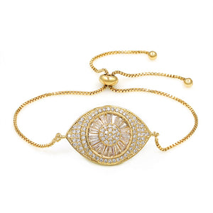 Enlarged Evil Eye EZ-On & EZ-Off Bracelet - 235