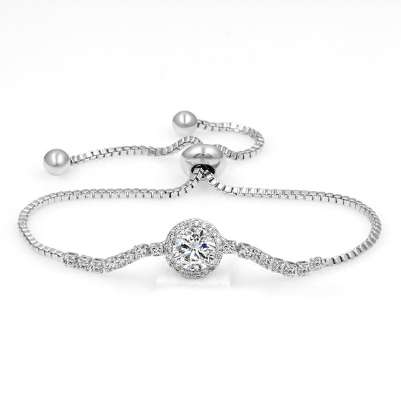Round Center Stone EZ-On & EZ-Off Bracelet -173