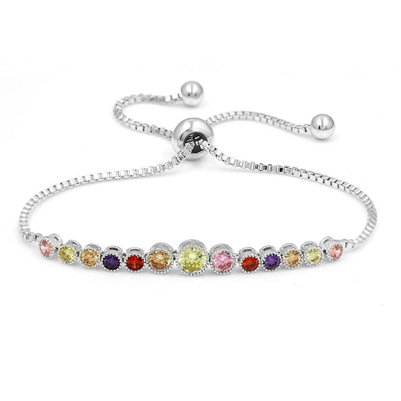 Multi-Stone Tennis EZ-On & EZ-Off Bracelet - 266