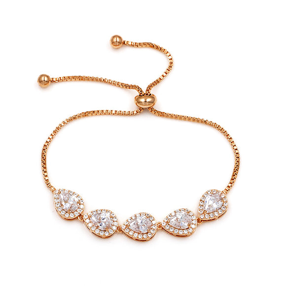 Elegant  Teardrops EZ-On & EZ-Off Bracelet - 284