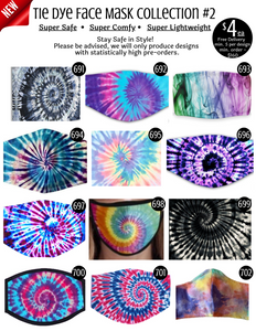 Tie Dye Face Mask Collection #2