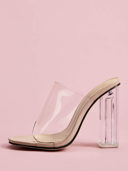 Clear Attraction Heels