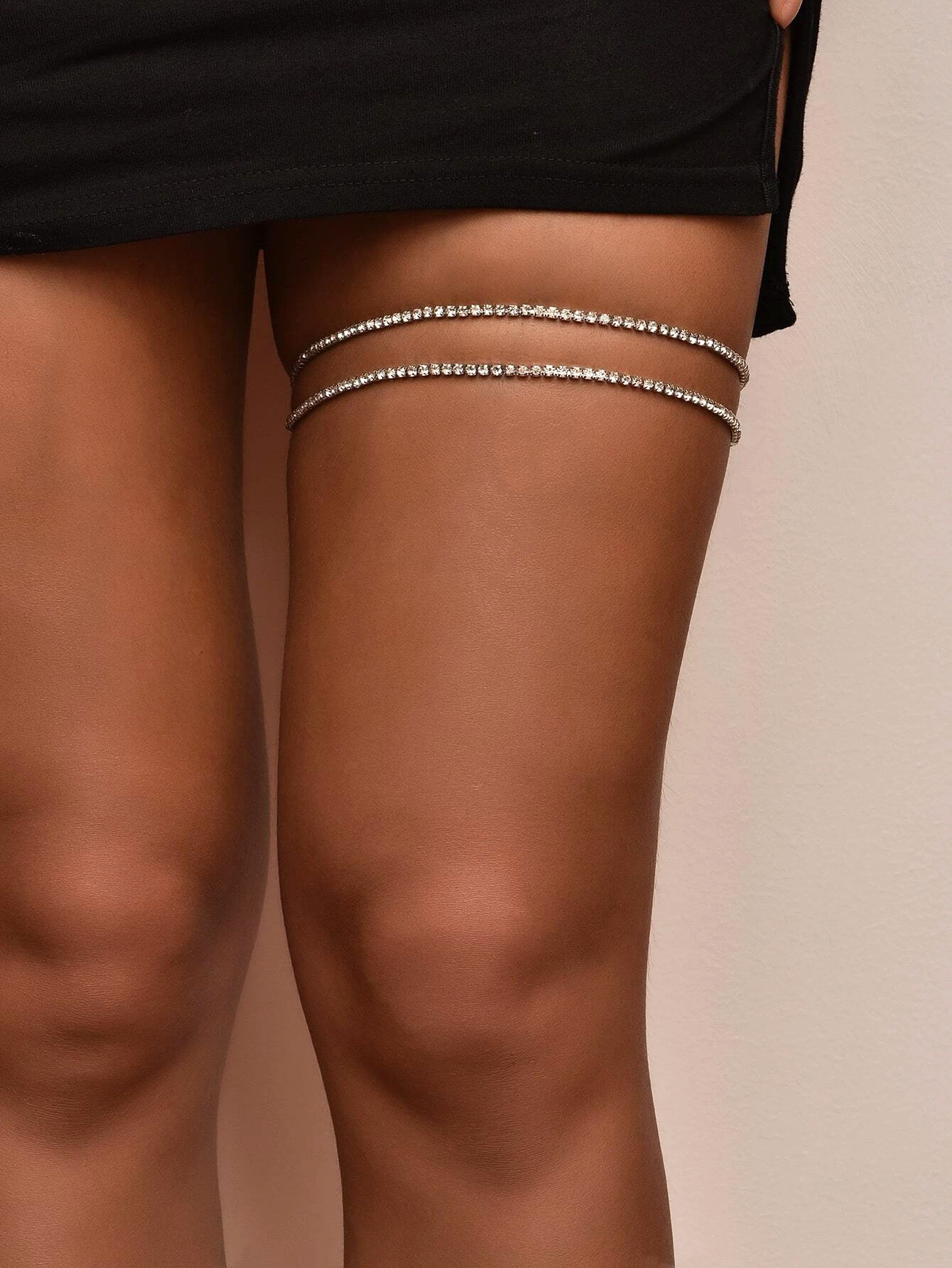 Diamante Leg Chain Set