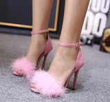 Feather Strap Heels