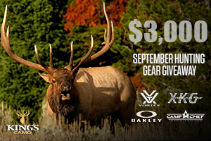 King's Camo $3,000 September Hunting Gear Giveaway