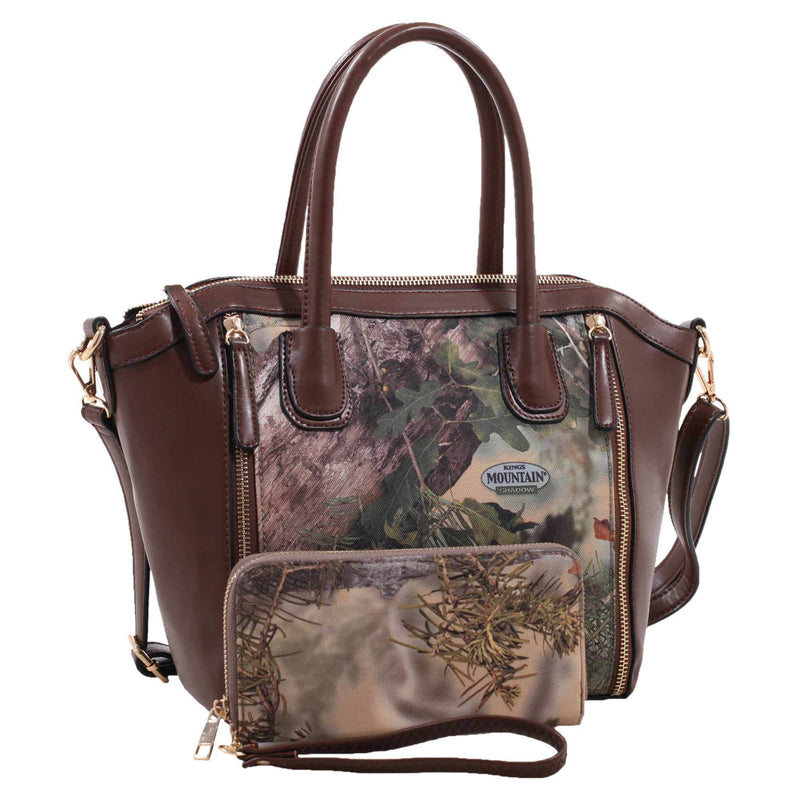 Satchel Concealed Carry Handbag with Matching Wallet