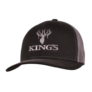 King's Logo Snapback Cap Black/Charcoal | King's Camo