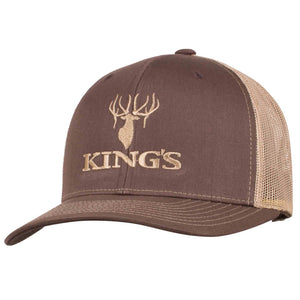 King's Logo Snapback Cap Coffee/Khaki | King's Camo