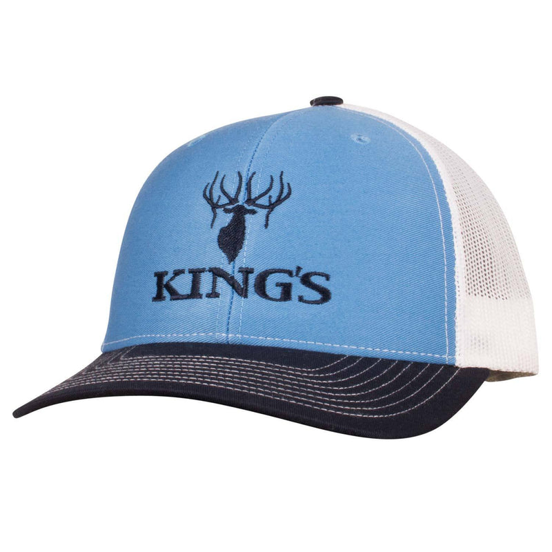 King's Logo Snapback Cap Blue/White | King's Camo