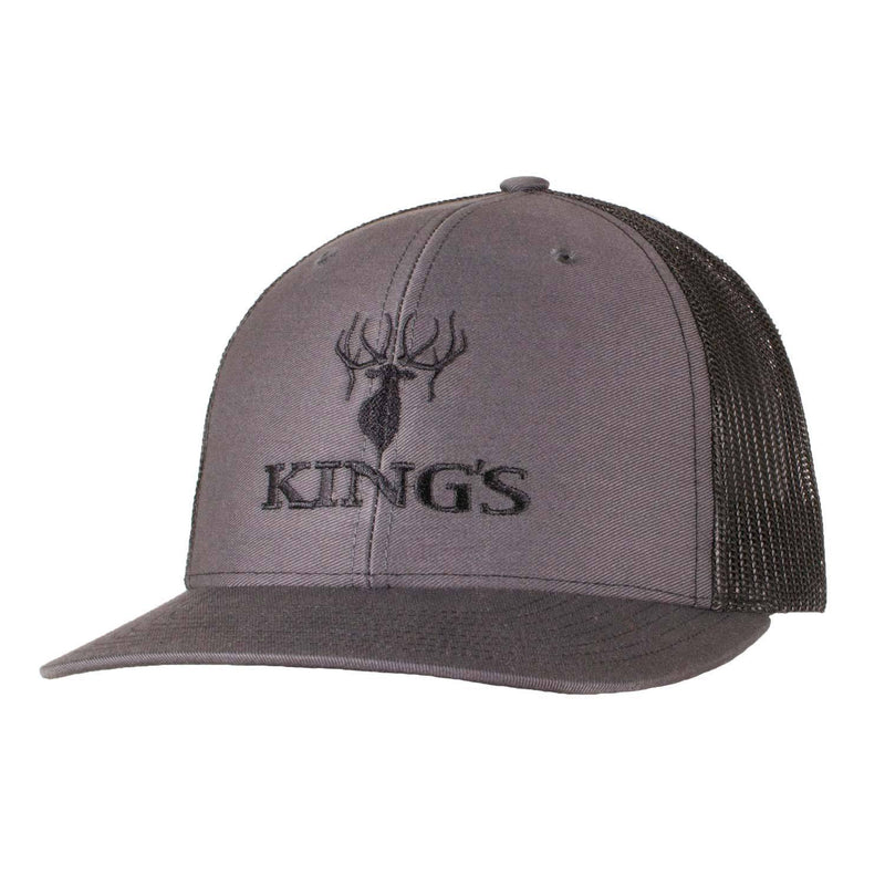 King's Logo Snapback Cap Charcoal/Black | King's Camo