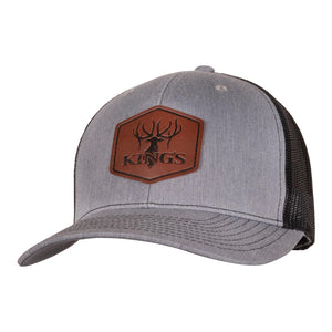 Leather Patch Trucker Hat | King's Camo