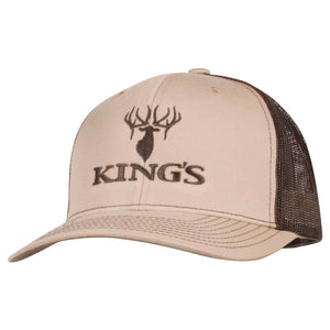 King's Logo Snapback Cap Khaki/Coffee | King's Camo