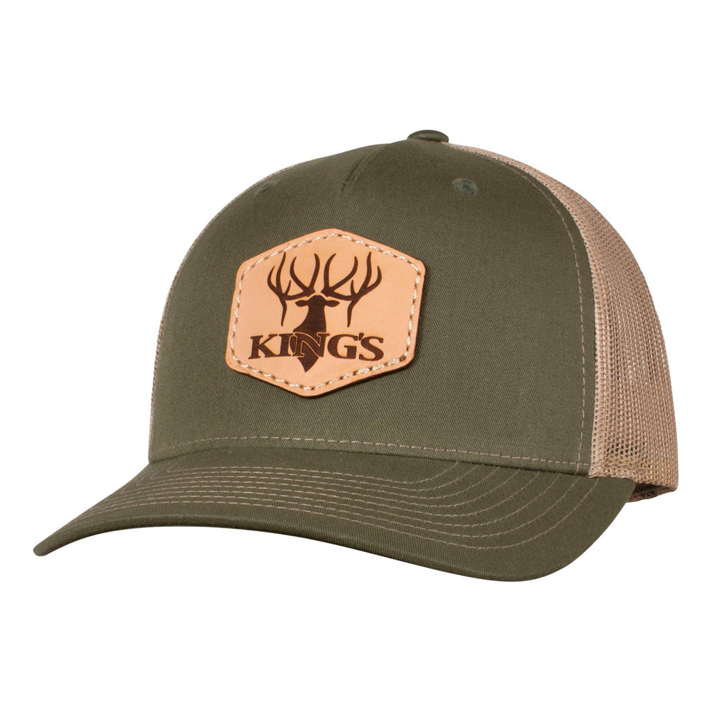 King's Logo Trucker Patch Hat | King's Camo