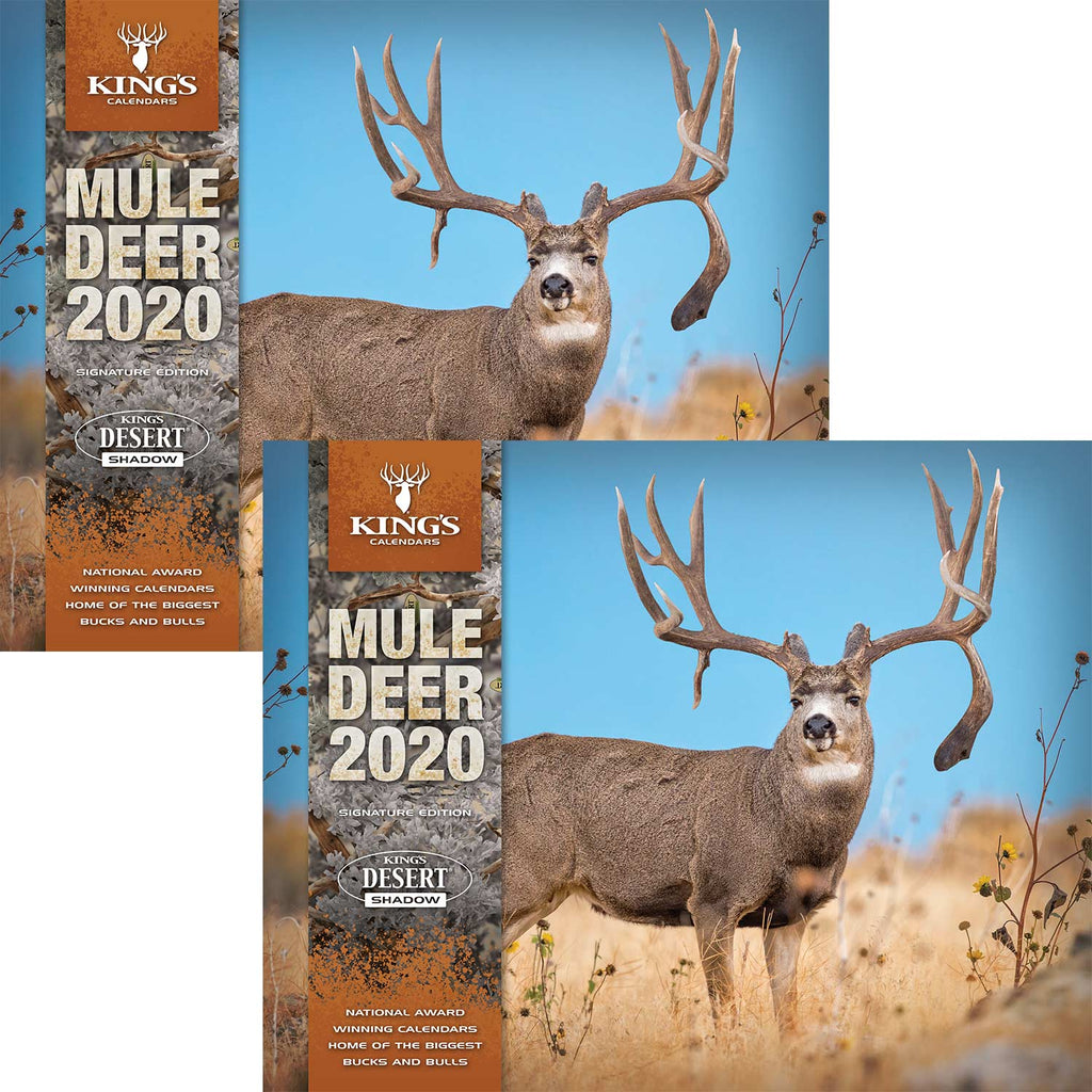 2020 King's Mule Deer Calendar TWIN PACK | King's Camo