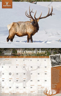 2020 King's Bull Elk Calendar TWIN PACK