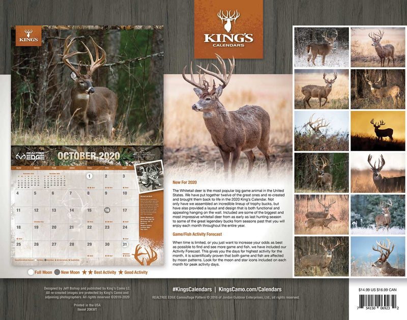 2020 King's Whitetail Calendar TWIN PACK