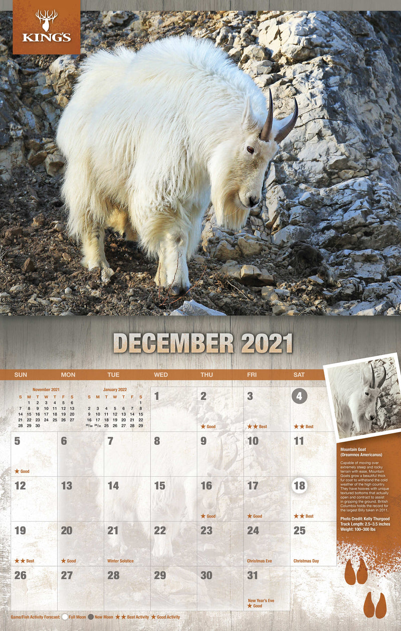 2021 King's Wildlife Calendar