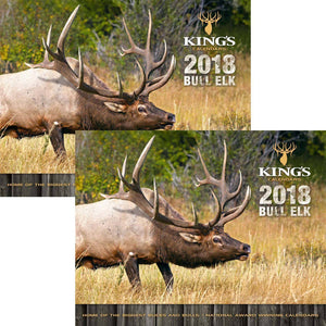 2018 King's Bull Elk Calendar TWIN Pack