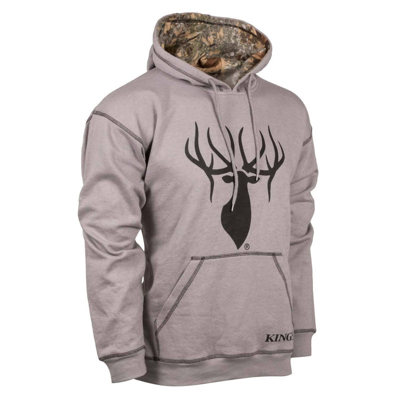 King's Cool Grey Logo Hoodie | King's Camo