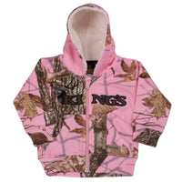 Infant Toddler Sherpa Zip Hoodie Woodland Pink | King's Camo