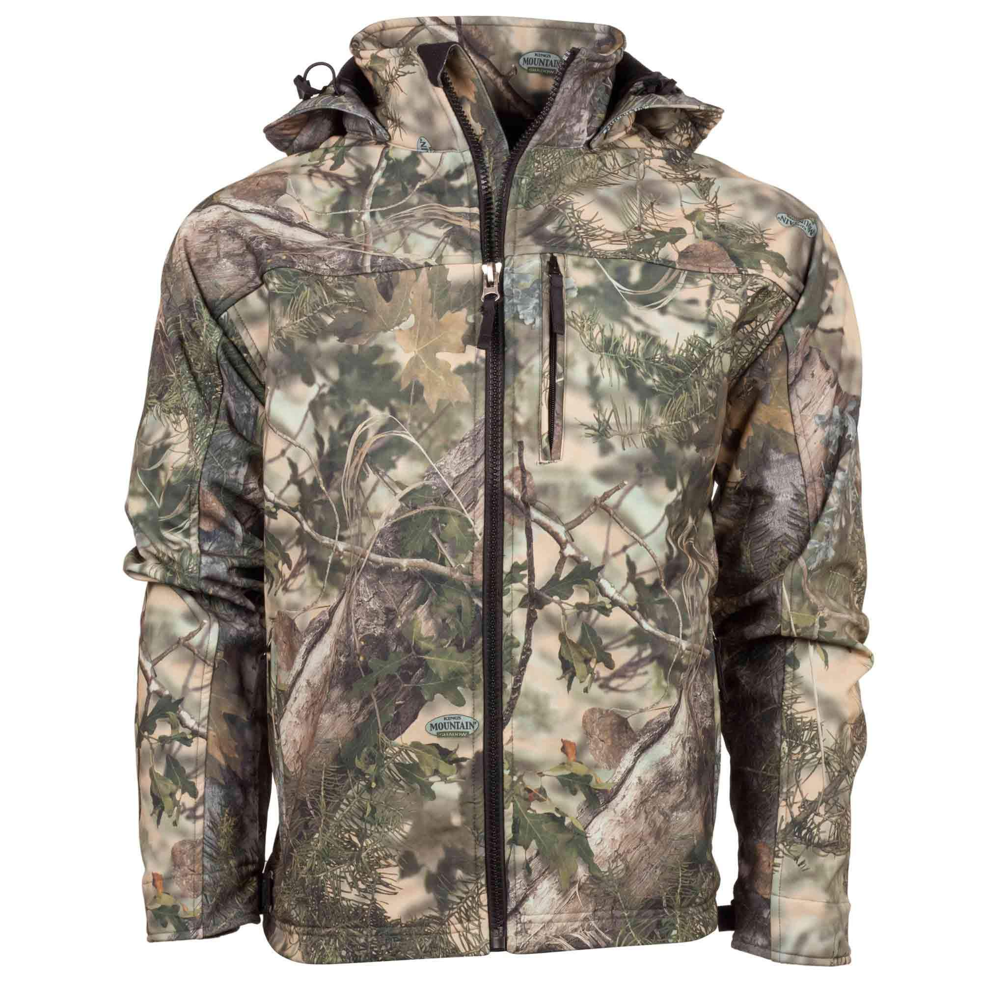 07be5dc5bdbae Guide's Choice Soft Shell Hooded Jacket | King's Camo