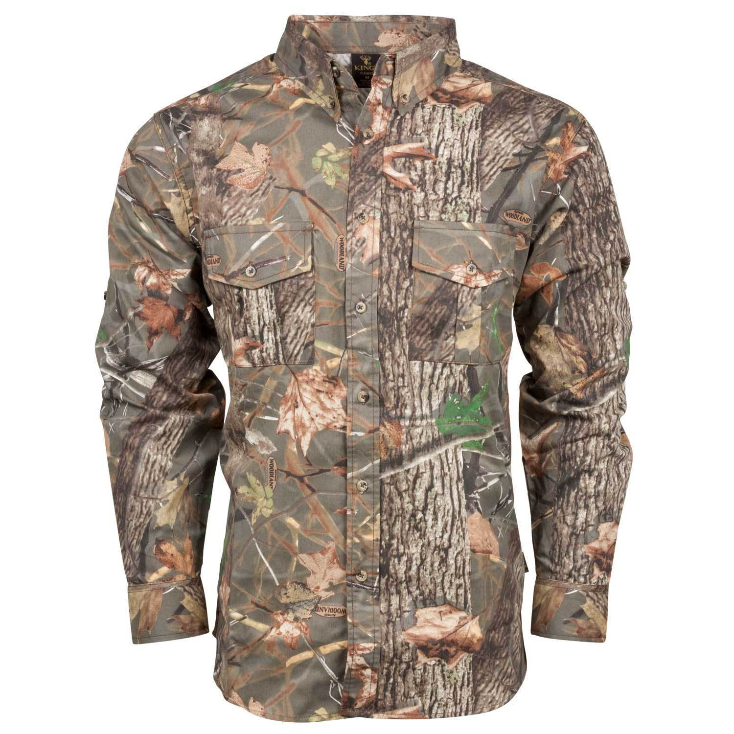 cfd0dc22 Classic Cotton Button Up Shirt in Woodland Shadow® | King's Camo