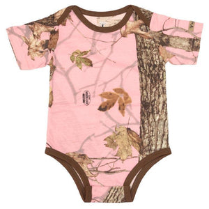 Infant Bodysuit in Woodland Pink | King's Camo