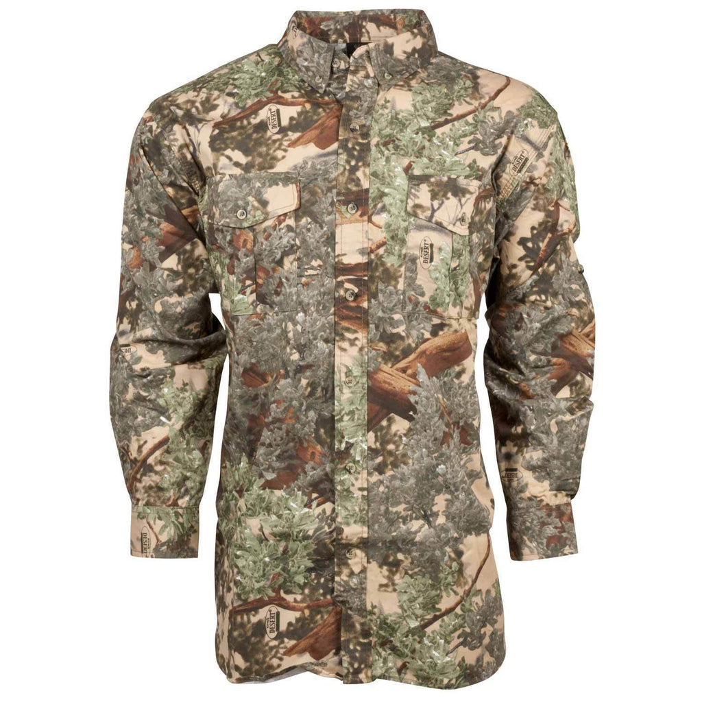 Classic Cotton Button-Up Shirt Desert Shadow | King's Camo