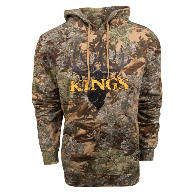 Cotton Hoodie with King's Black Gold Logo
