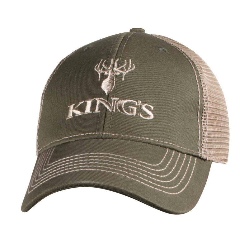 King's Logo Mesh Back Cap Olive | King's Camo