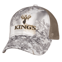 6 Panel Mesh Back Hat Snow Shadow | King's Camo