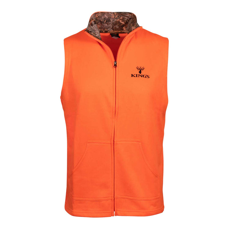 Blaze Orange Hunter Fleece Vest | King's Camo