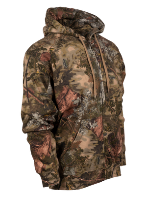 Classic Cotton Full-Zip Hoodie in Mountain Shadow | King's Camo