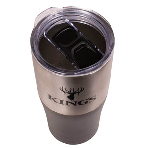 King's Logo Tumbler Black/Stainless