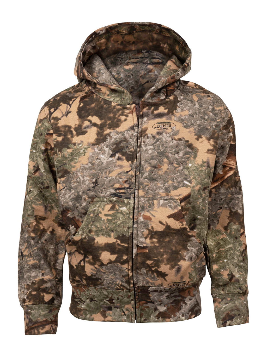 Kids Classic Full-Zip Hoodie in Desert Shadow | King's Camo