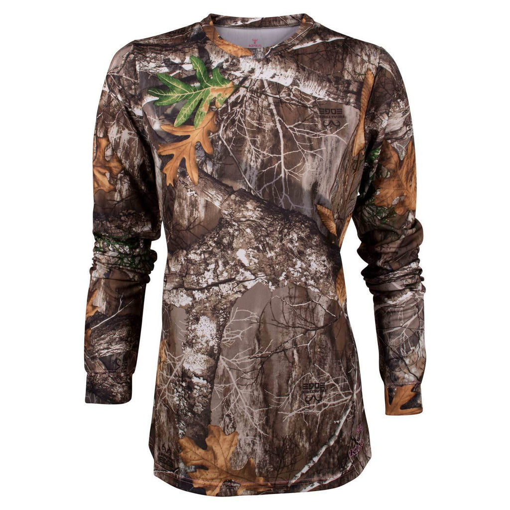 Women's Hunter Long Sleeve Tee Realtree Edge | King's Camo