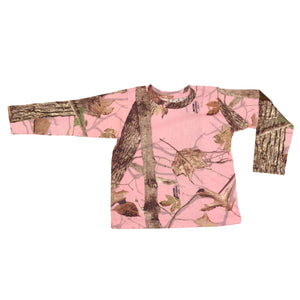 Infant Toddler Long Sleeve Tee Woodland Pink | King's Camo
